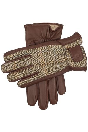 Dents Men's Harris Tweed & Leather Gloves, / L