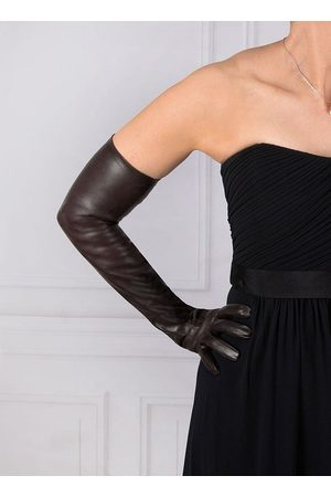 Dents Women Gloves - Women's Long Leather Gloves, MOCCA / 7
