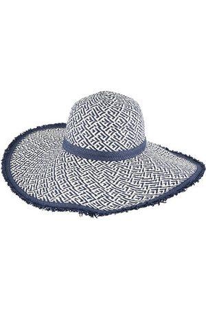 Dents Paper Straw Criss-Cross Pattern Sun Hat