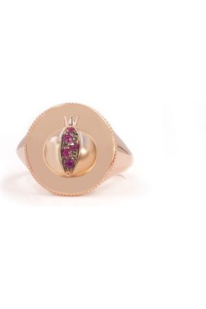 The Alkemistry Noush 14ct Rose Gold And Ruby Love Signet Ring