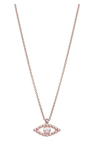 The Alkemistry Kismet By Milka 14ct Rose Gold And Diamond Evil Eye Necklace