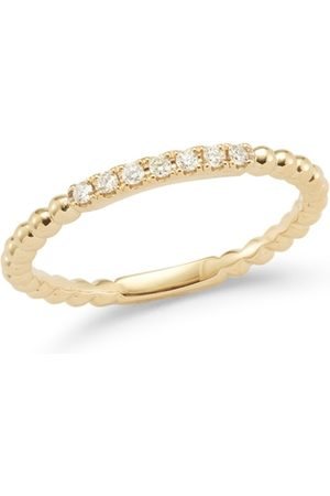 The Alkemistry Dana Rebecca 14ct Gold And Diamond Poppy Rae Semi Pave Band Ring