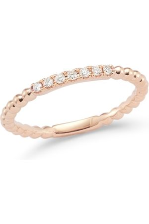 The Alkemistry Dana Rebecca 14ct Rose Gold And Diamond Poppy Rae Semi Pave Band Ring