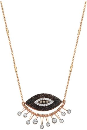 The Alkemistry Kismet By Milka 14ct Rose Gold 10th Eye Diamond Necklace