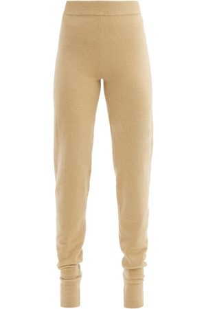 EXTREME CASHMERE Tapered-leg Stretch-cashmere Track Pants - Womens - Camel