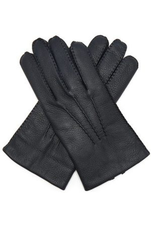 Dents Cambridge Leather Gloves - Mens - Navy