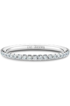 De Beers 18kt white gold diamond Aura Eternity band ring