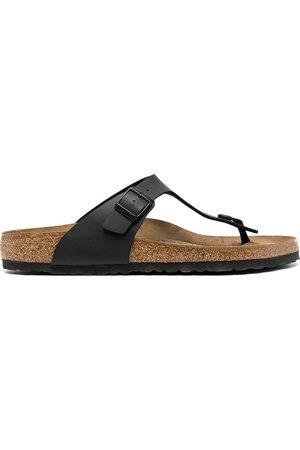 Birkenstock Leather buckle flip flops