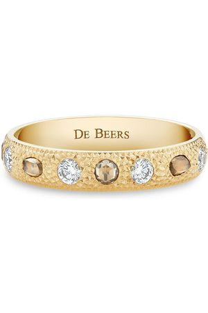 De Beers 18kt yellow small Talisman diamond band