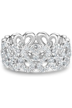 De Beers 18kt white gold Swan diamond band ring