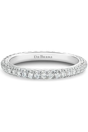 De Beers 18kt gold DB Darling eternity diamond band