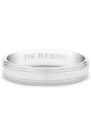 De Beers Engraved-logo ring