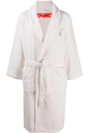 OFF-WHITE Embroidered logo robe