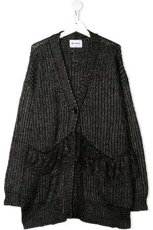 Dondup TEEN ribbed knit longline cardigan