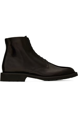 Saint Laurent Leather Army Boots