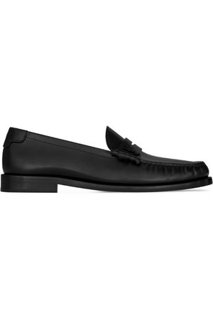 Saint Laurent Men Loafers - Leather Penny Loafers