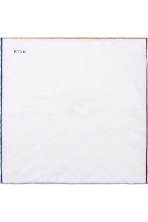 Eton Men Pocket Squares - Linen Coloured-Edge Pocket Square