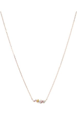Suzanne Kalan Rainbow Firework 18kt rose gold and diamond necklace necklace