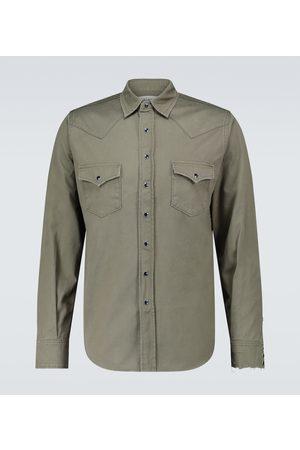 Saint Laurent Long-sleeved denim shirt