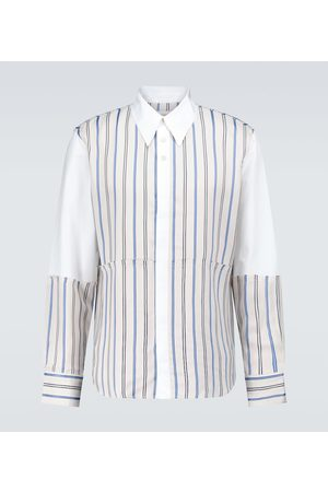 WALES BONNER Sterling patchwork shirt