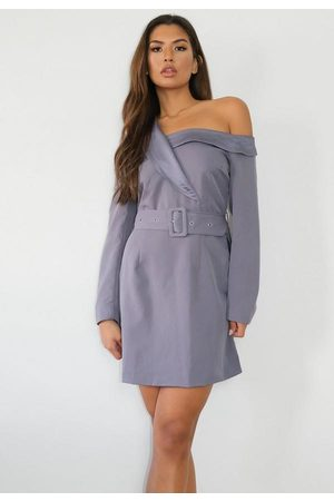 Missguided Off The Shoulder Blazer Dress