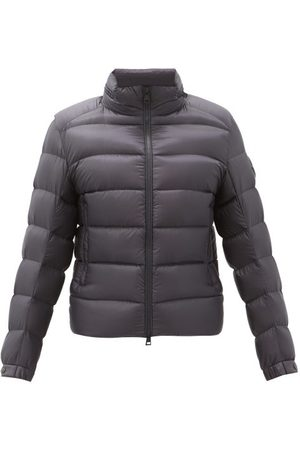 Moncler Logo-patch Hooded Quilted Down Jacket - Mens - Navy