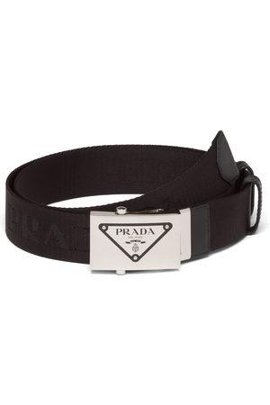 Prada Logo plaque belt