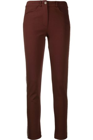 D.EXTERIOR Side-stripe skinny-fit trousers