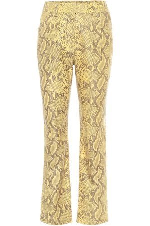 Common Leisure High-rise straight leather pants