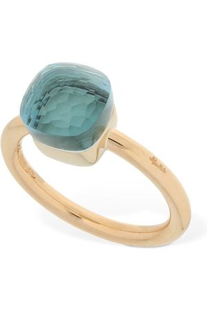 Pomellato Nudo 18kt Thin Ring W/ Blue Topaz