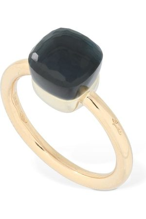 Pomellato Nudo 18kt Thin Ring W/ Blue Topaz