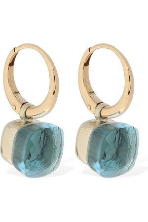 Pomellato Nudo 18kt Earrings W/ Blue Topaz