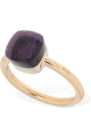 Pomellato Women Rings - Nudo 18kt Thin Ring W/ Amethyst