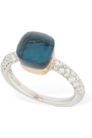 Pomellato Nudo 18kt Ring W/ Topaz & Diamond