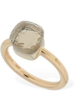 Pomellato Nudo 18kt Thin Ring W/ White Topaz