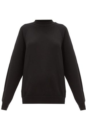 Les Tien High-neck Brushed-back Cotton Sweatshirt - Womens
