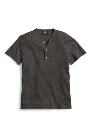 RRL Men Short Sleeve - Waffle-Knit Cotton Henley
