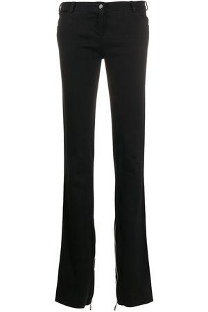 VERSACE 1990s zipped bootcut trousers