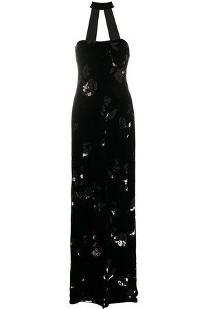 Giorgio Armani 1990s textured floral gown