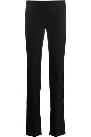 VERSACE 1990s decorative buttons flared trousers