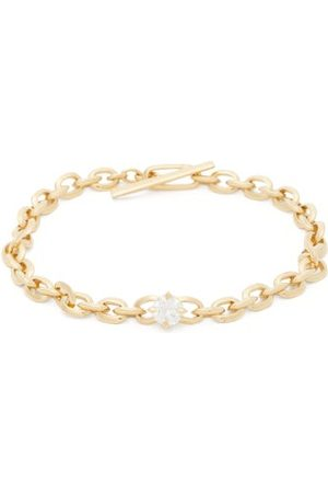 Lizzie Mandler Knife Edge Diamond & 18kt Chain Bracelet - Womens