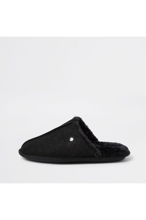 River Island Men Slippers - Mens monogram mule slipper