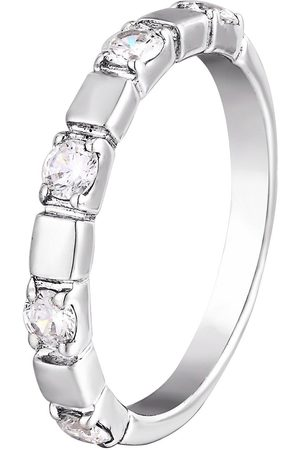 The Love Silver Collection Sterling Siver Five Stone Cubic Zirconia Band Ring