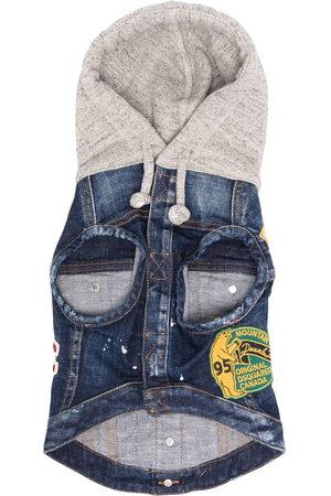 Dsquared2 Denim Jackets - Denim patch hooded jacket