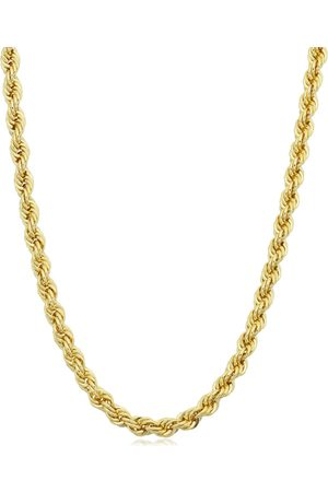 SuperJeweler 14K (19.40 g) 3.3mm Rope Chain Necklace, 30 Inches