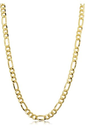 SuperJeweler 14K (17 g) 4.2mm Figaro Chain Necklace, 30 Inches