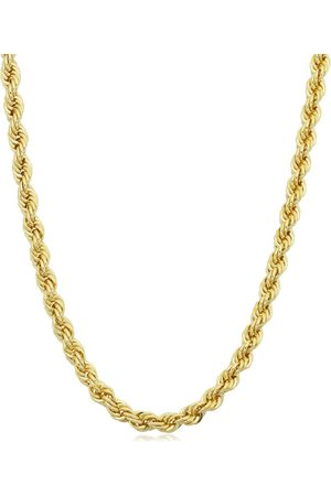 SuperJeweler 14K (15.60 g) 3.3mm Rope Chain Necklace, 24 Inches