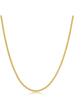 SuperJeweler 14K (3.70 g) 1.6mm Round Wheat Chain Necklace, 18 Inches