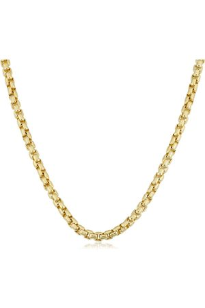 SuperJeweler 14K (20.50 g) 3.4mm Round Box Chain Necklace, 18 Inches
