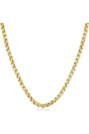 SuperJeweler 14K (22.90 g) 3.4mm Round Box Chain Necklace, 20 Inches
